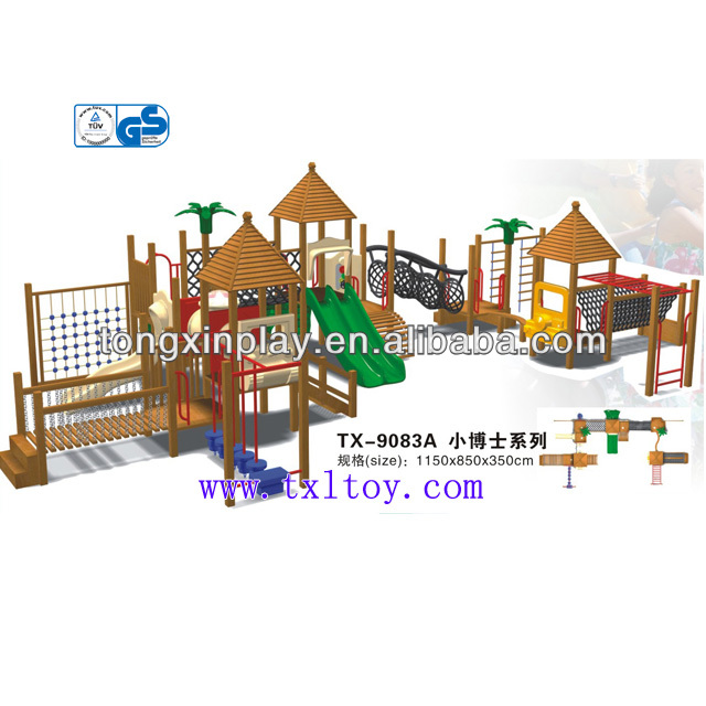 2013 wooden playhouse with slide TX9083A