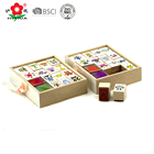 wood stamp set children toys include ink pads