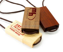 Wooden Maple Lanyard USB Pen Drive USB Flash Drive 16G 32G 64G