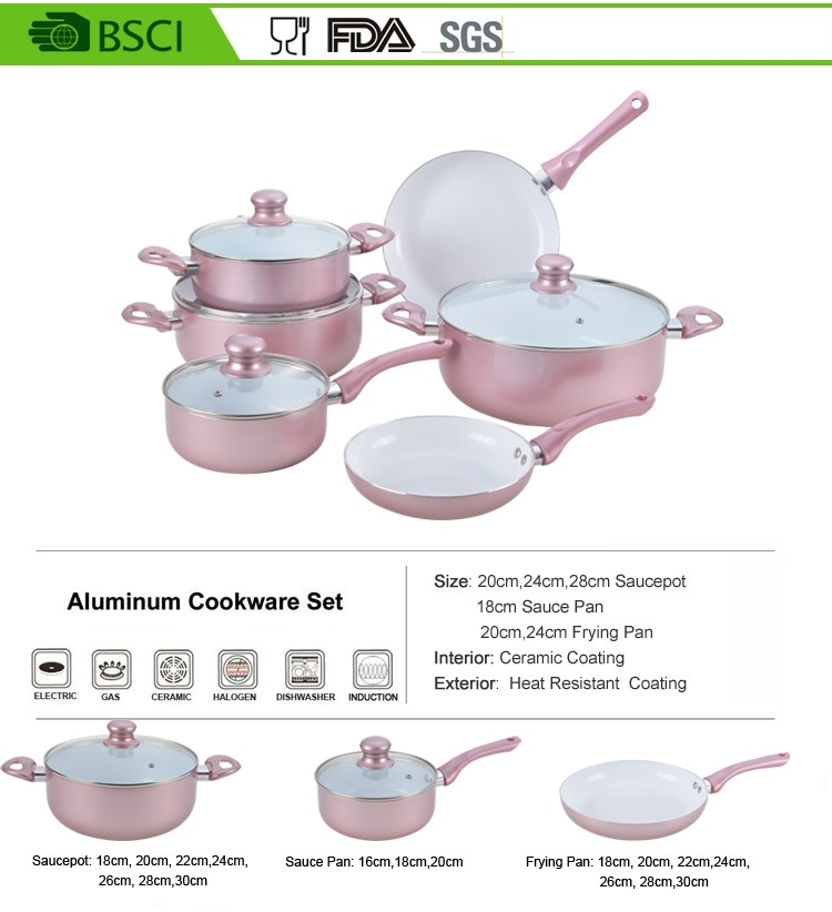 10pcs Rose Gold Wholesale Korea Kitchen Induction Aluminum