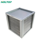 Aluminium temperature recovery plate air heat exchanger for heat recovery unit