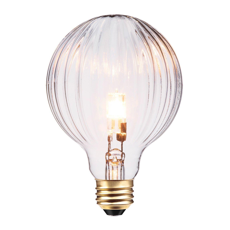 Globe Electric 40W Designer Vintage Globo Halogen Light Bulb, E26 Base, 360 Lumens, 84656