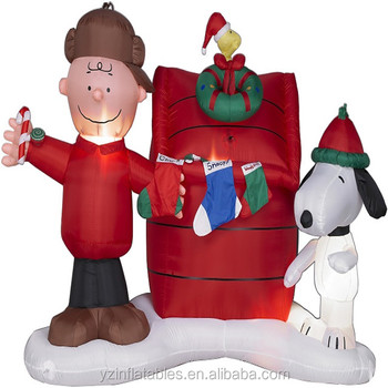 snoopy charlie brown woodstock christmas inflatable - Christmas Snoopy