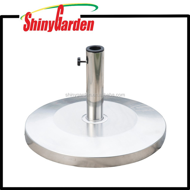 Outsunny Round Stainless Steel SS Patio Umbrella Stand Base