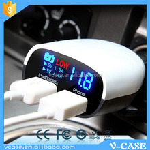 2.1A 12V 18V USB Car Charger DC Power auto Adapter With LED White NEW