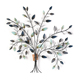 Flower Carved Wood Hotel Wrought Iron Tree Metal Wall Art Decor