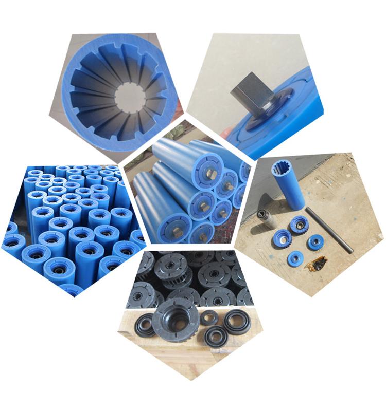 Beijing Haosheng supplier belt conveyor idler HDPE roller