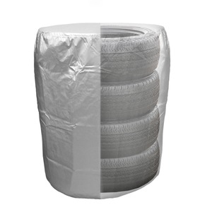 "Tire Storage Bag Dustproof Protective Polyester Cover with Drawstring - Holds 4 tires up to 32"" Dia"