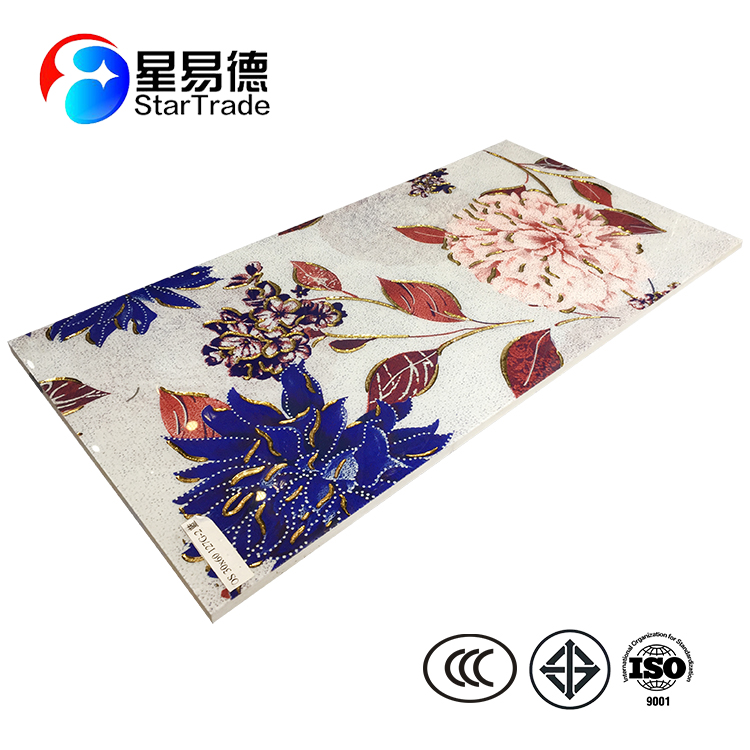 Factory Direct Sale Polished Crystal Bright Colored Porcelain Floor Tile