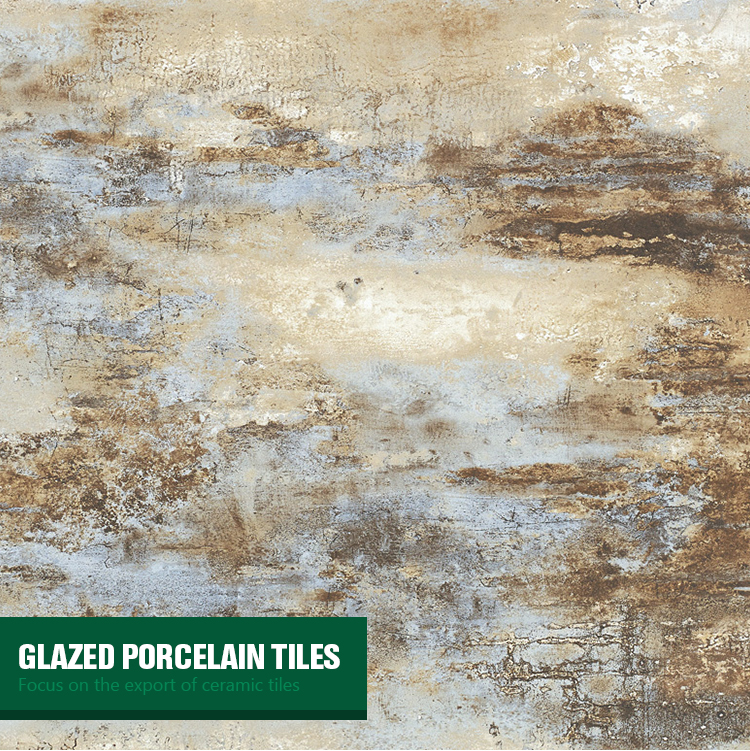 simple glazed surface spanish wearable glazed ceramic floor tile 600x600 matte blue rust glazed ceramic porcelain floor tile