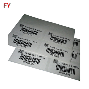 OEM custom barcode sticker paper sheets