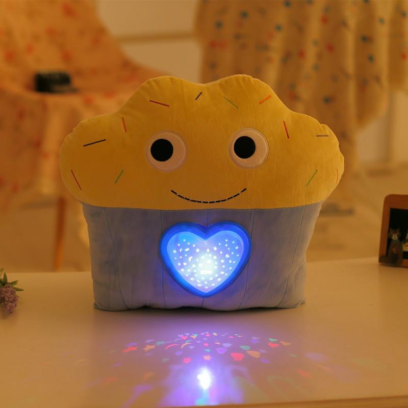 Cupcake gối Tùy Chỉnh gối hình với LED ánh sáng và âm nhạc