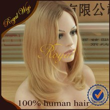 Most Popular Dark Roots Human Hair Blonde Wig Jewish Items