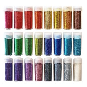 Original Stationery Arts and Crafts Glitter Shake Jars,Extra Fine,24,28 or 32 Multi colors glitter set