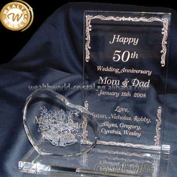 Crystal Glass Wedding Anniversary Gifts Buy Indian Wedding