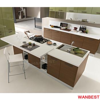 Modern Marble Top Modular Kitchen