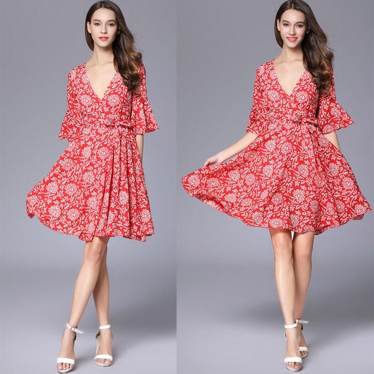 Oem Vintage Casual Kleid Neuesten Schnittmuster Damen Korean Fashion ...