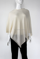 wholesale luxurious knitted 12GG ladies cashmere poncho and wraps