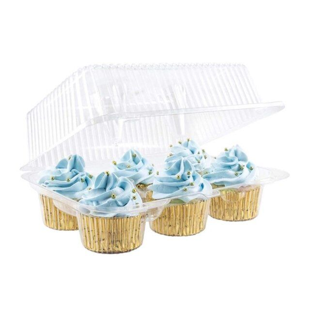 Clear Plastic Muffin Pod Cake Dome Wedding Mooncake Enkele Cupcake Containers