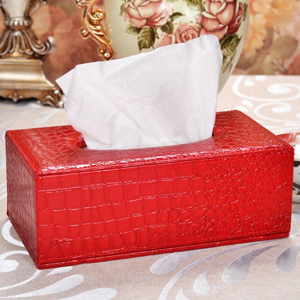 TRE European household cortical tissue box/Leather paper extraction box/Napkin box/Car tissue box-K