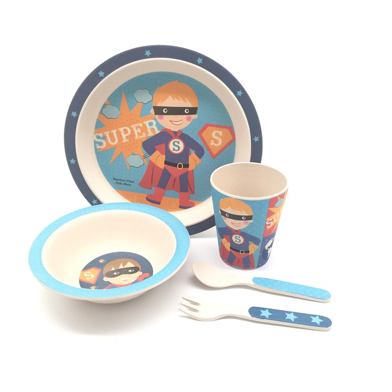 New Style Factory Direct Supply Bambusfaser Kindergeschirr-Sets