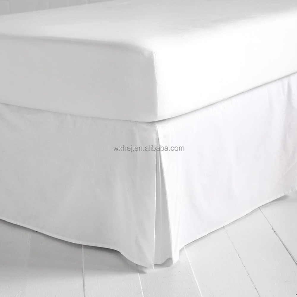 Queen Size 100 Cotton Hotel Cheap Fitted Sheet Valance Bed Skirt
