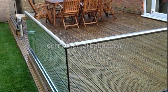 Edelstahl u profil glasgeländer system balkon glasgeländer designs ...