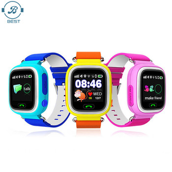 Q90 1.22 inch Screen WIFI SOS Call Location Finder Device Tracker Safe Anti Lost Monitor GPS Smart Watch for Children