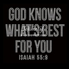 god knows what is best for you Rhinestone Transfer Bling Custom