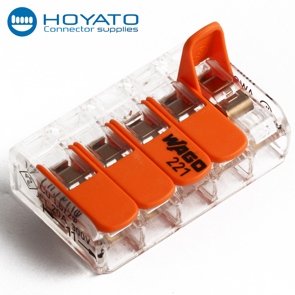 customized wago 221 to 413 series connector terminal block