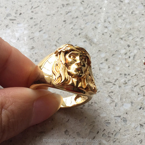 Miss Jewelry Cheap 1 gram gold ring designs for men, hip hop ring design