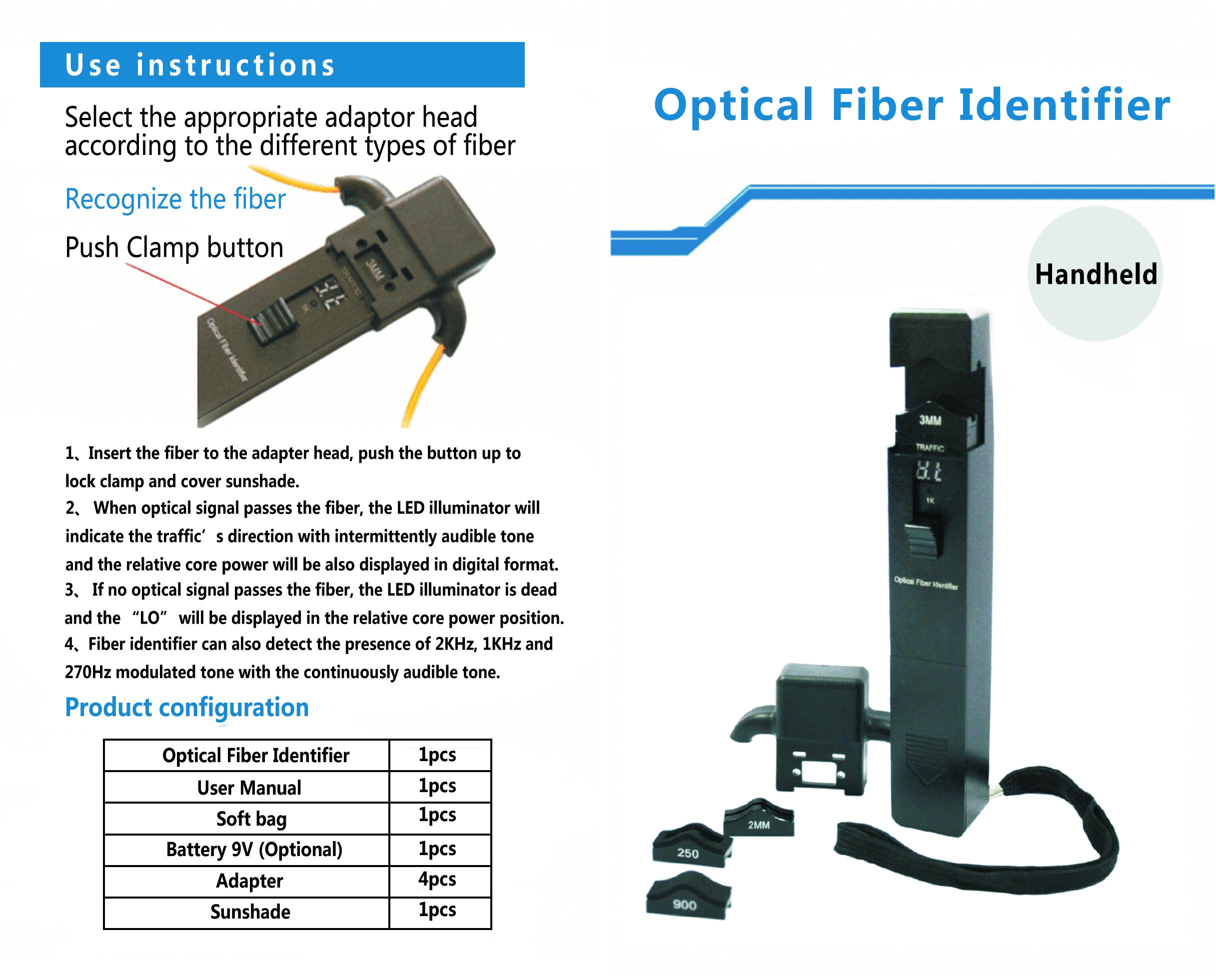 comptyco Optical Fiber Identifier Liver Fiber Detector in Mental Case