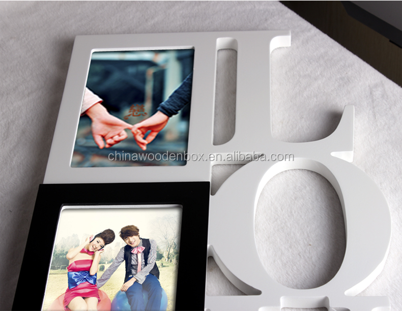 School Days Gallery Multi Opening Wood Photo Frame, Paste/ Sticker School Baby Picture Frames