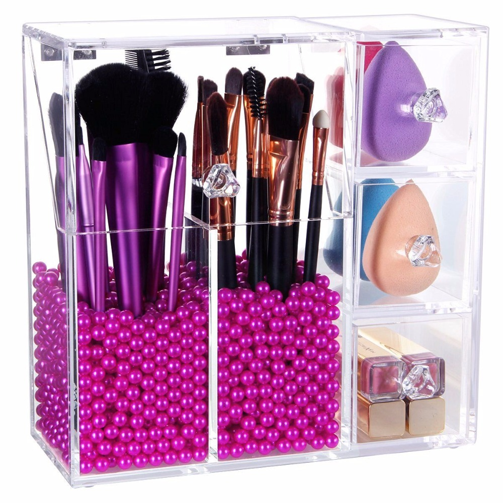 Acrylic Organizer makeup Cosmetic Storage/acrylic brush holder/support FBA