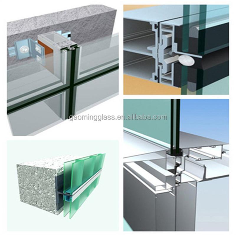 double vitrage mur rideau de verre prix mur rideaux id. Black Bedroom Furniture Sets. Home Design Ideas