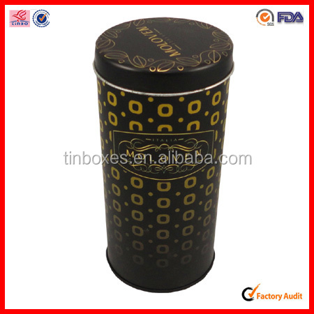 round lighter loose tea tin box