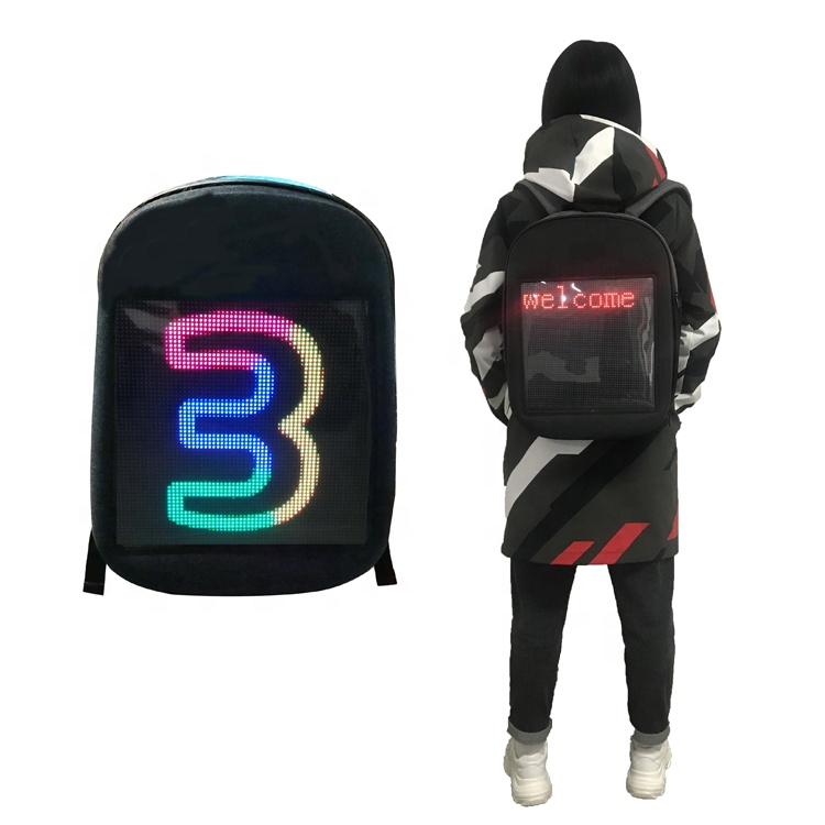moving advertising flexible display led backpack <strong>portable</strong> led <strong>screen</strong>