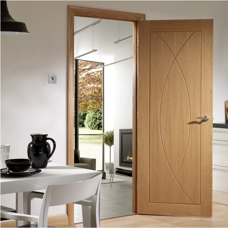 2017 latest design wooden interior room door from China supplier