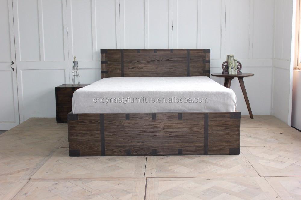 Más Populares Muebles De Dormitorio Rústico Estilo Diseños De Cama ...