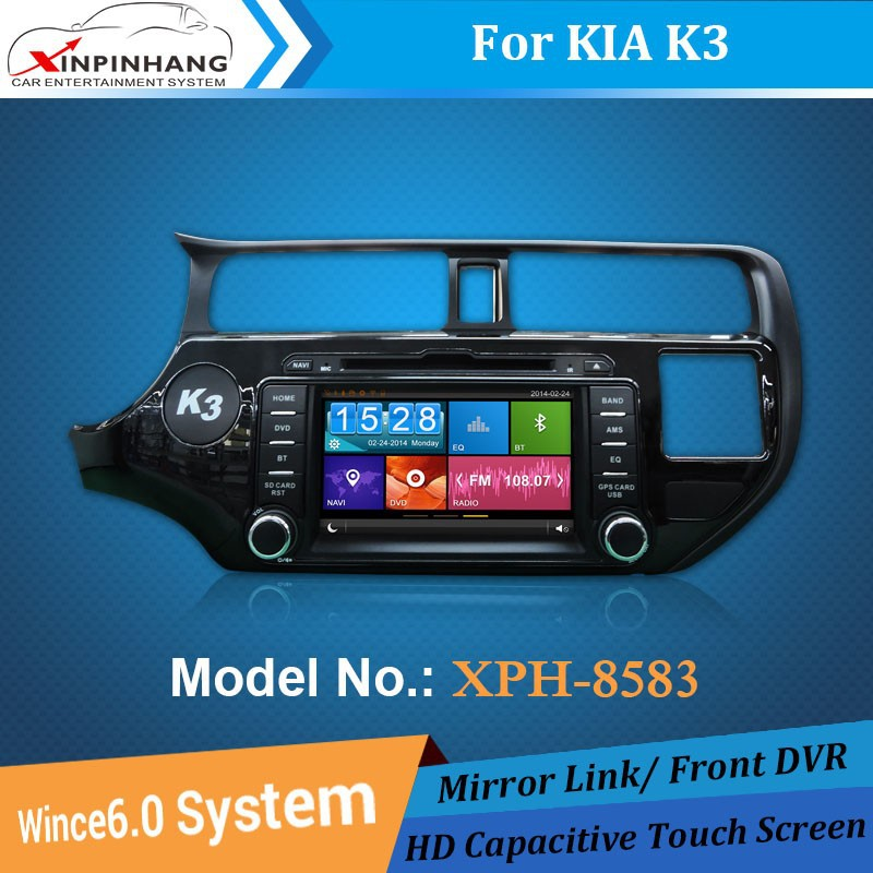 xinpinhang car dvd gps for kia k3/rio with mirror link,phone book