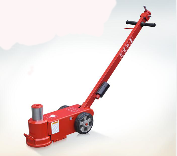 Heavy duty air hydraulic floor jack 40 t สำหรับรถบัส