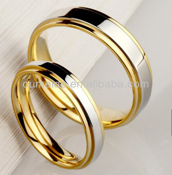 Anium Jewelry Ring Metal Gold Wedding Plain Rings