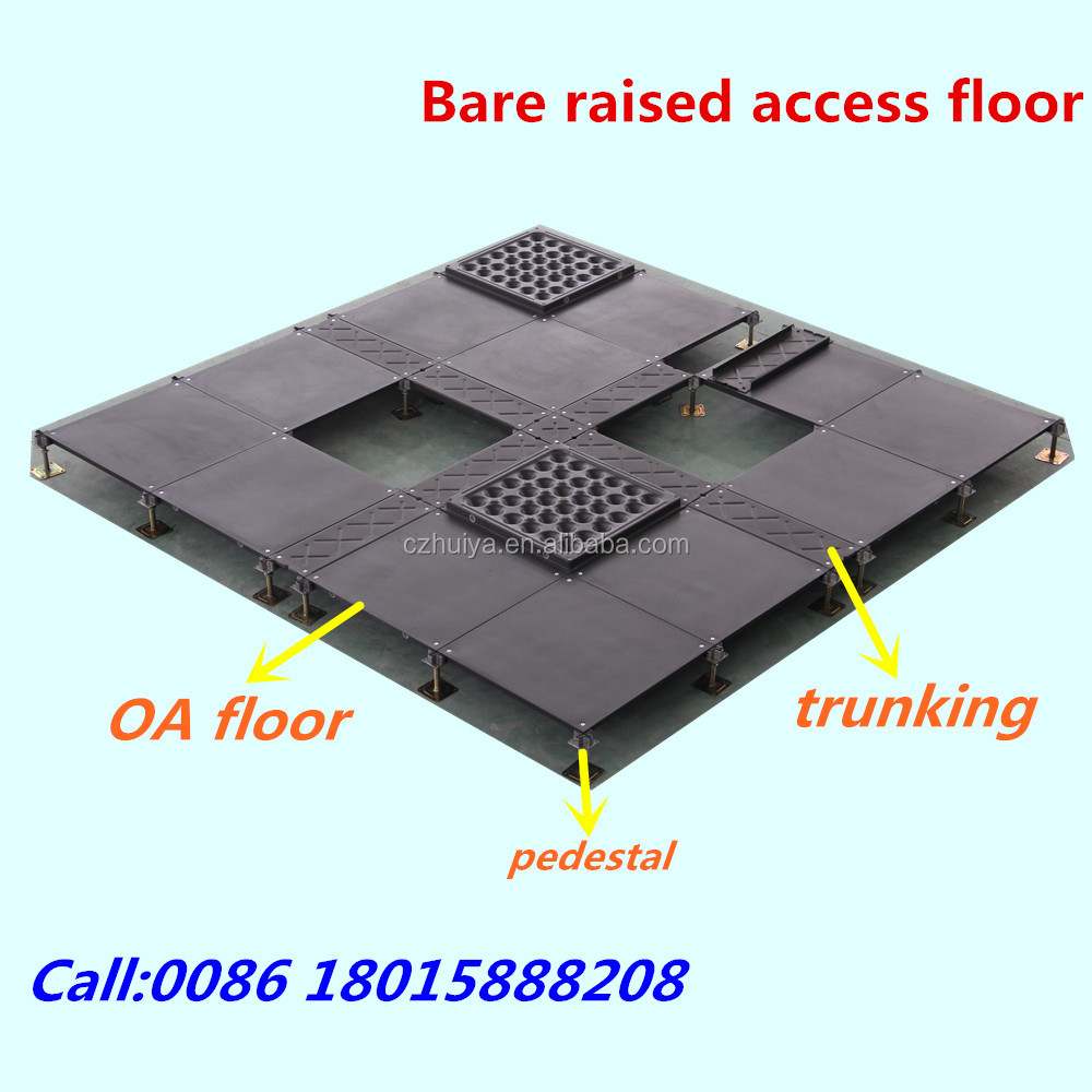 All steel raised access floor panels for office building
