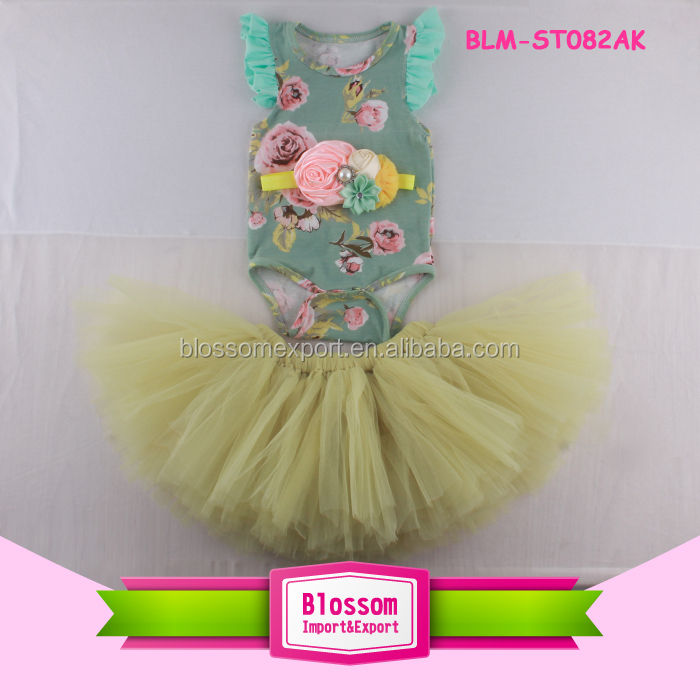 Kids Clothing Set Sleeveless Tank Top Match Fluffy Chiffon Pettiskirt Girls Summer Outfit