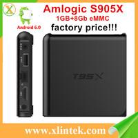 Best sale T95X kodi android tv box dual tuner s905x quad core android smart tv box full hd media player