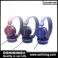 No cancelling wired stereo headphone colorful earphone for computer or mobile phone