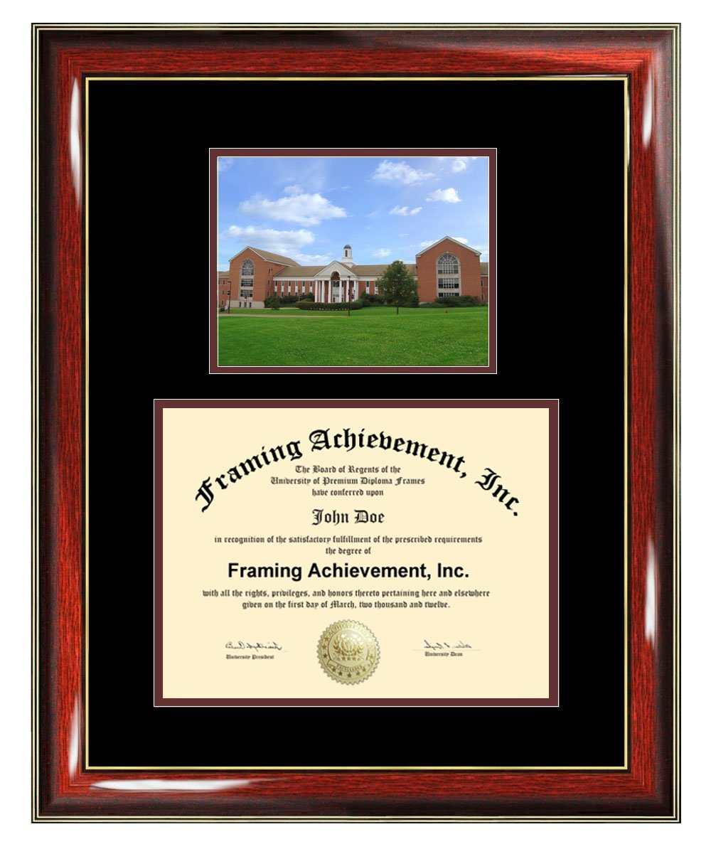 University of Maryland University College Diploma Frame - UMUC Graduation Degree Frame - Matted Campus College Photo Graduation Certificate Plaque University Framing Graduate Gift Collegiate