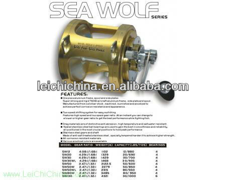 High quality low price sea fishing trolling reels