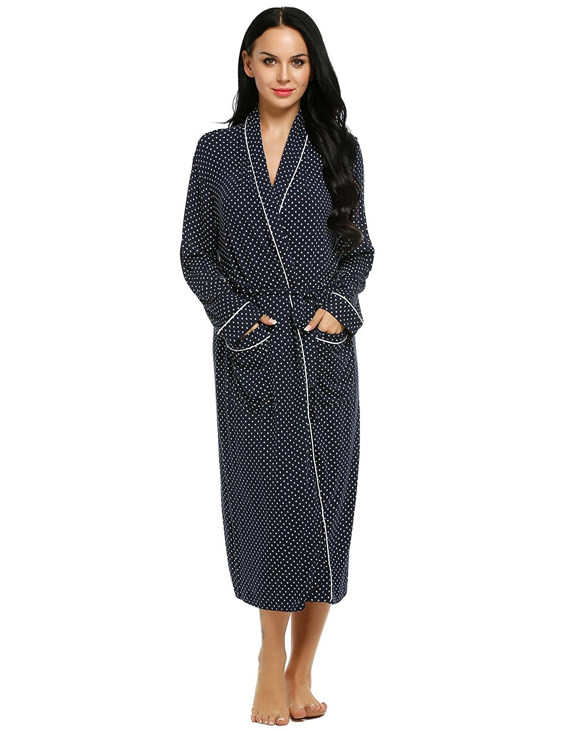 8f099a7f03 Get Quotations · L amore Women s towelling Bathrobe Comfort Sleepwear  Classic Luxury Comfy Robes