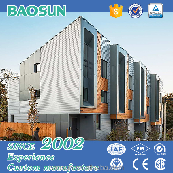 BAOSUN light steel structure modern design passive energy saving prefabricated solar apartment for sale
